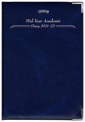 Cover of A5 Deluxe Page A Day Mid-year Academic Diary 2019 - 2020 - O'Brien Printing - 5390991004060