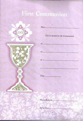 Cover of Communion Invitation 20 Pack Girl - Lantz - 5391502850817