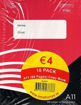 Cover of A11 88 Page Writing Copy (Pack of 10) - 5391515233386