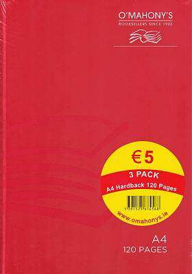 Cover of A4 120 Page Hardback Dark Colours (Pack of 3) - 5391525674568