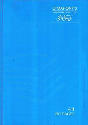 Cover of A4 160 Page Hardback Blue - 5391525674933