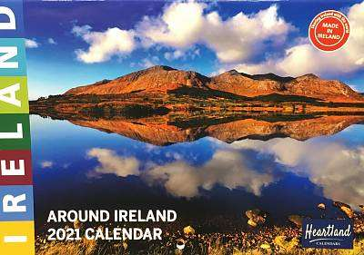 Cover of Around Ireland A4 2021 Calendar - Heartland Calendars - 5391525760384