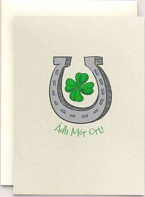 Cover of Good Luck Horseshoe - Loose Greeting Card - Clover Rua - 5391527521242