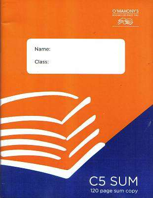 Cover of C5  Sum Copy 120 page - 5391528796694