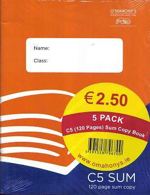 Cover of C5  Sum Copy 120 Page 5 Pack - 5391528796700