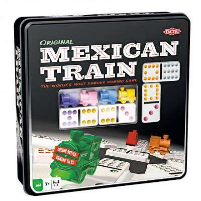 Cover of Mexican Train In Tin Box - Tactic Games - 6416739540054