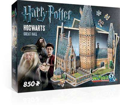 Cover of Harry Potter Hogwarts Great Hall 850 3D Piece Puzzle - Coiled Spings - 665541020148