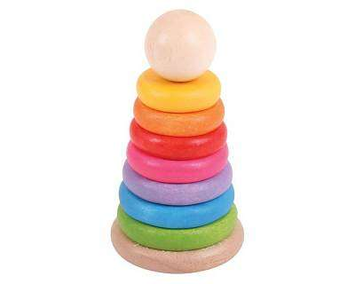 Cover of First Rainbow Stacker - Bigjigs - 691621530986