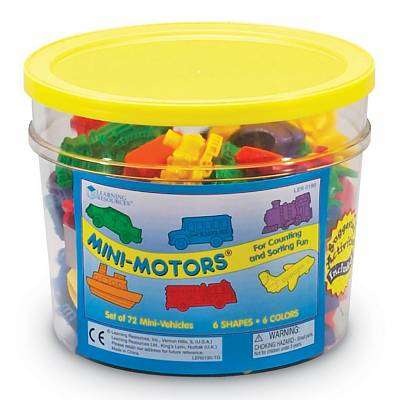 Cover of Mini Motors Counters 72 Piece Set - Learning Resources - 765023001297