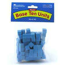 Cover of Plastic Base Ten Units - Learning Resources - 765023004120