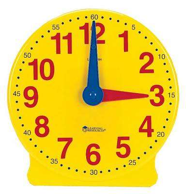 Cover of Big Time 12 Hour Demonstration Clock - Learning Resources - 765023007763