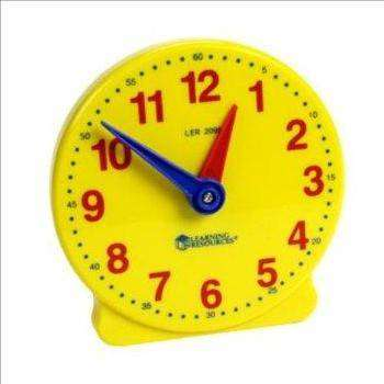 Cover of Big Time 12 Hour Student Clock - Learning Resources - 765023007770