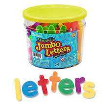 Cover of Jumbo Magnetic Lowercase Letters - 765023009224