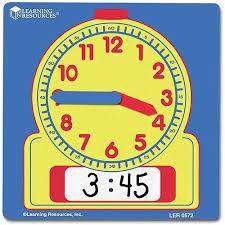 Cover of Write & Wipe Demonstration Clock - Learning Resources - 765023012545
