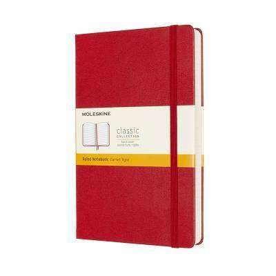 Cover of Large Scarlet Red Ruled Classic Notebook Hardcover - Moleskine - 8053853606198