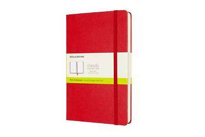 Cover of Large Scarlet Red Plain Classic Notebook Hardcover - Moleskine - 8053853606204