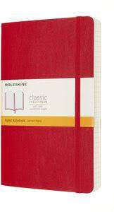 Cover of Large Scarlet Red Rule Classic Notebook Softcover - Moleskine - 8053853606211