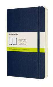 Cover of Large Sapphire Blue Plain Classic Notebook softcover - Moleskine - 8053853606266