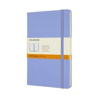 Cover of Large Hydrangea Blue Ruled Classic Notebook Hardcover - Moleskine - 8056420850819