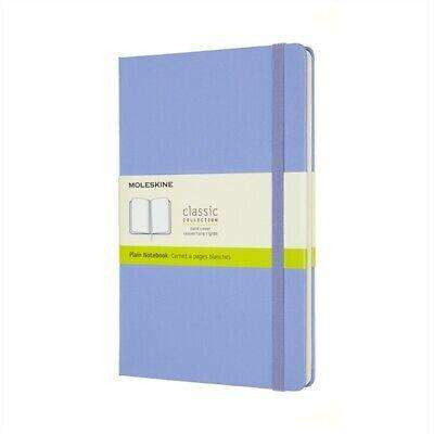 Cover of Large Hydrangea Blue Plain Classic Notebook Hardcover - Moleskine - 8056420850826