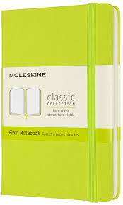 Cover of Moleskine Pocket Plain Hardcover Notebook : Lemon Green - Moleskine - 8056420850864