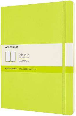 Cover of Extra Large Lemon Green Plain Classic Notebook Softcover - Moleskine - 8056420851021