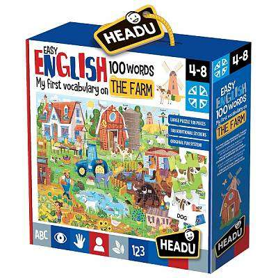 Cover of Easy English 100 Words Farm jigsaw - 8059591420997