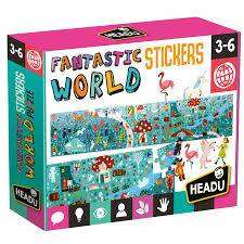 Cover of Fantastic World Puzzle & Stickers - 8059591424933