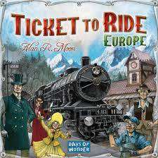 Cover of Ticket To Ride Europe Game - Esdevium Games - 824968717929