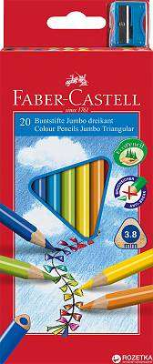 Cover of Junior Triangular Coloured Pencils 20 Box - Faber Castell - 8991761345023