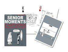 Cover of Senior Moments Playing Cards - Gibson Games - 9001890167416