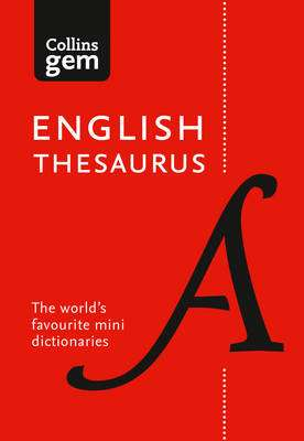 Cover of Collins Gem English Thesaurus 8th edition - Collins Dictionaries - 9780008141691