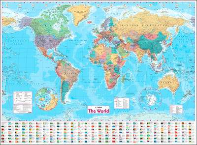 Cover of Collins World Wall Paper Map - Collins Maps - 9780008211585