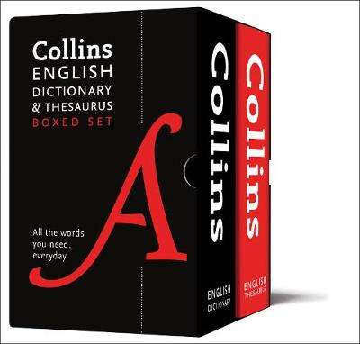 Cover of Collins English Dictionary and Thesaurus Boxed Set 3rd edition - Collins Dictionaries - 9780008309725