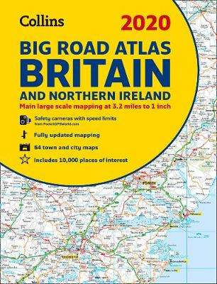 Cover of 2020 Collins Big Road Atlas Britain and Northern Ireland - Collins Maps - 9780008318680