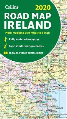 Cover of 2020 Collins Map of Ireland - Collins Maps - 9780008318734