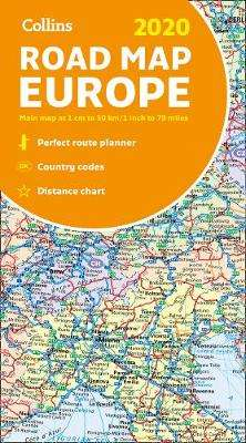 Cover of 2020 Collins Map of Europe - Collins Maps - 9780008319762
