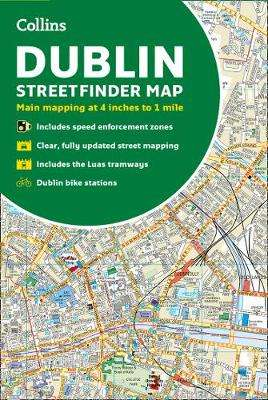 Cover of Collins Dublin Streetfinder Colour Map - Collins Maps - 9780008369958