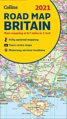Cover of Map of Britain 2021: Folded road map (Collins Road Atlas) - Collins Maps - 9780008374402