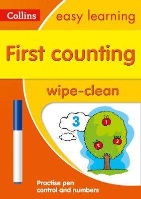 Cover of First Counting Age 3-5 Wipe Clean Activity Book: Prepare for Preschool with easy - Collins Easy Learning - 9780008387860