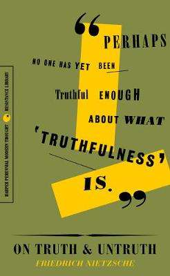 Cover of On Truth and Untruth: Selected Writings - Friedrich Nietzsche - 9780062930842