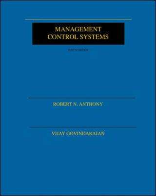 Cover of MANAGEMENT CONTROL SYSTEMS - Anthony Robert - 9780071181006