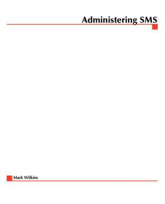 Cover of ADMINISTERING SMS - Mark Wilkins - 9780072124217