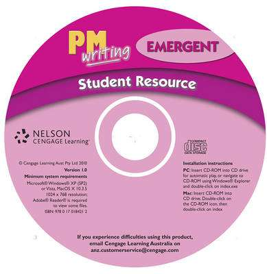 Cover of PM Writing : Emergent Student Resource CD - 9780170184212