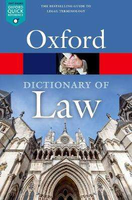 Cover of A Dictionary of Law - Jonathan Law - 9780198802525