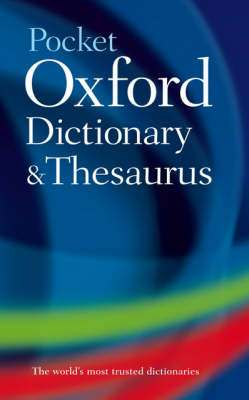Cover of Pocket Oxford Dictionary and Thesaurus - Oxford - 9780199532865