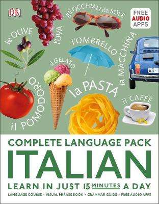 Cover of Complete Language Pack Italian: Learn in just 15 minutes a day - DK - 9780241379851