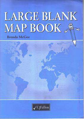 Cover of Large Blank Map Book - Brenda McGee - 9780714415918