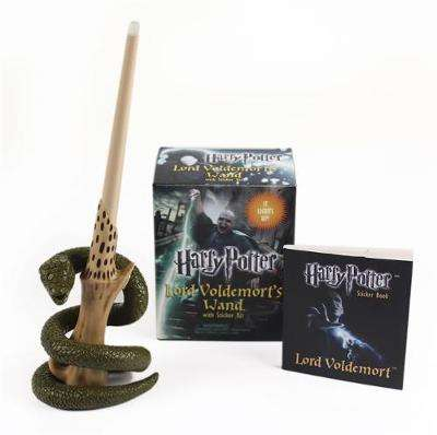 Cover of Harry Potter Voldemort's Wand with Sticker Kit: Lights Up! - Running Press - 9780762452415