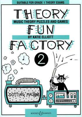 Cover of Theory Fun Factory Music Theory, Puzzles & Games Book 3 - Katie Elliott - 9780851621173